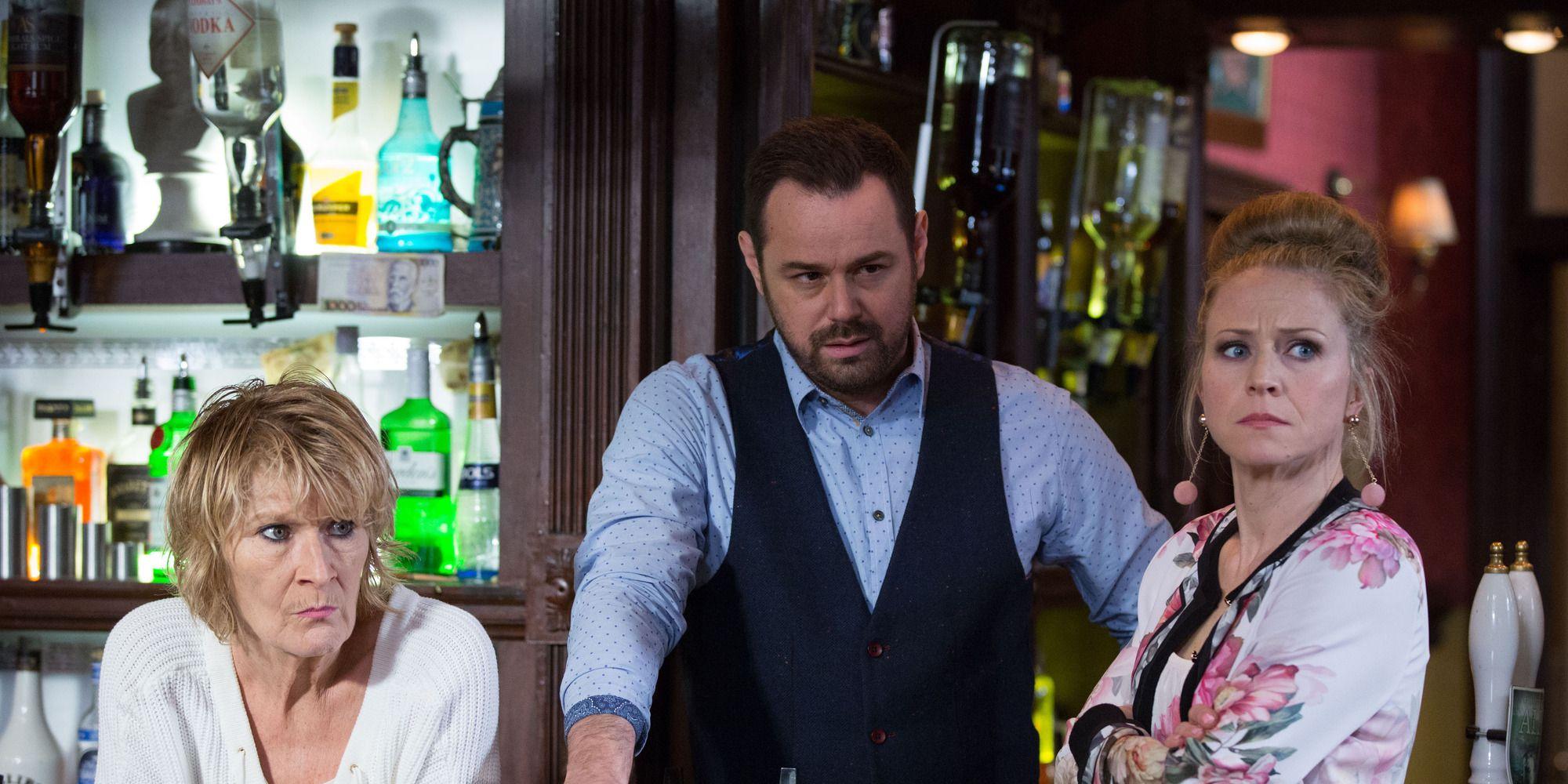 Linda Carter confesses to Aidan Maguire in EastEnders