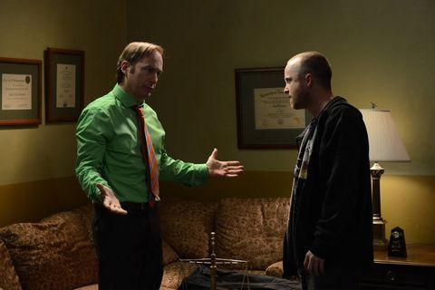 Saul and Jesse in 'Breaking Bad'