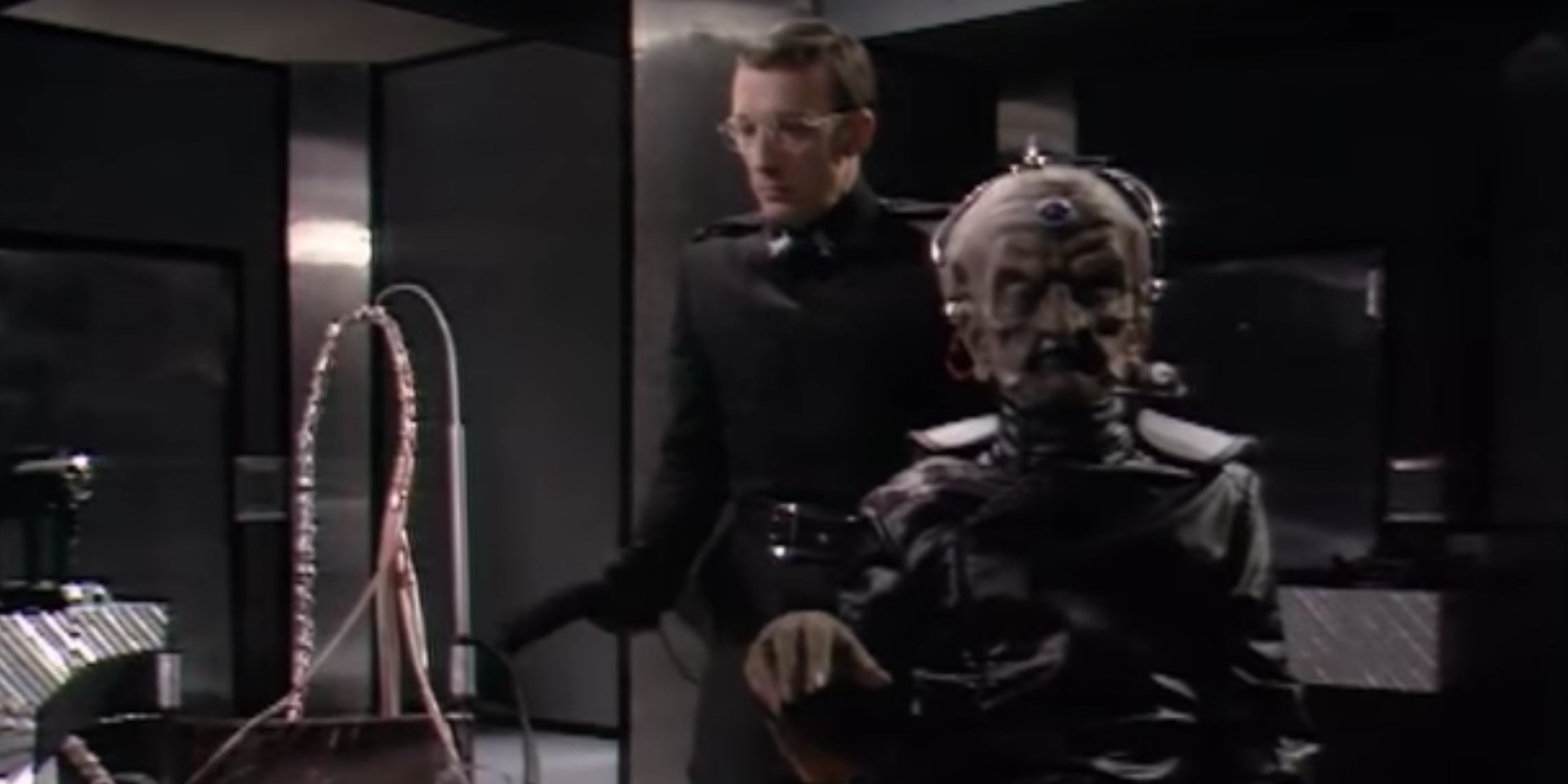 Nyder and Davros in Doctor Who, Genesis of the Daleks