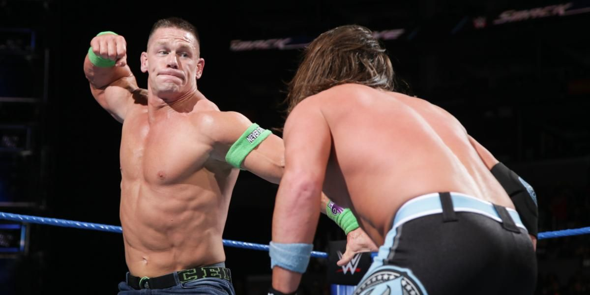 John Cena vs AJ Styles on WWE SmackDown Live