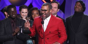 Jordan Peele accepts Best Feature for 'Get Out' during the 2018 Film Independent Spirit Awards