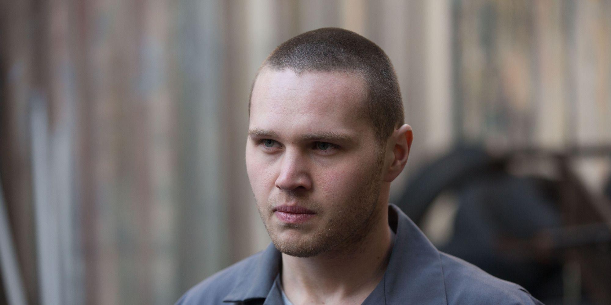 Keanu Taylor is shocked when Mitch Baker arrives in EastEnders