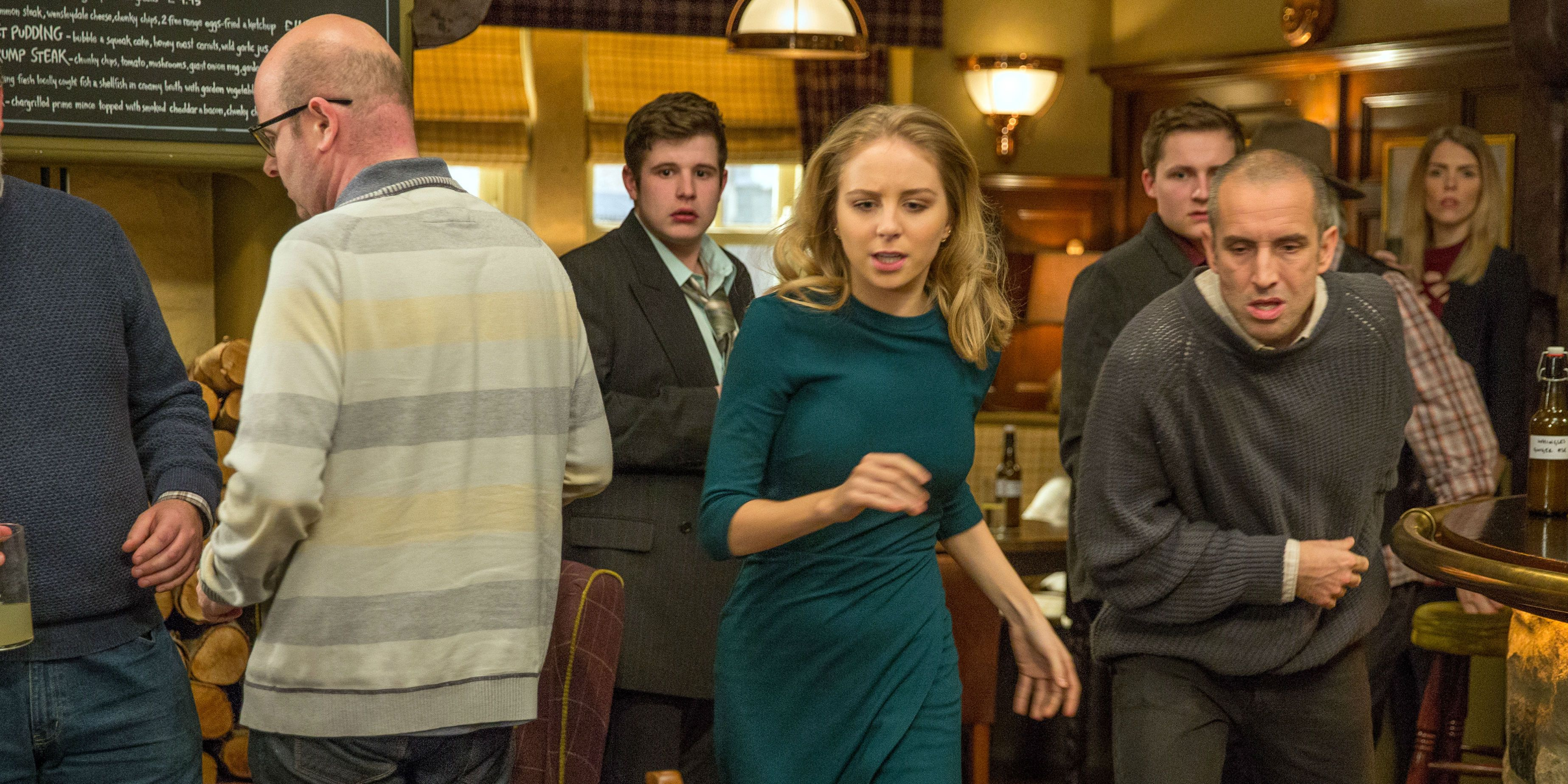 Gerry, Lachlan, Belle and Sam worry about Lisa Dingle in Emmerdale