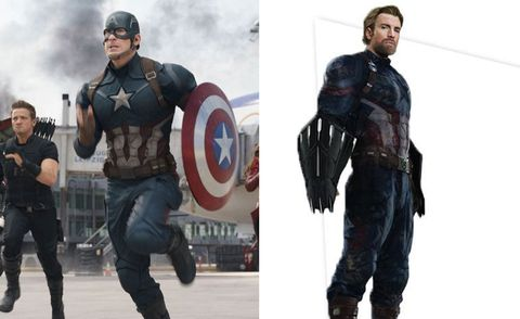 """<p>Although it initially appears most like his&nbsp;<i data-redactor-tag=\i\"""">Captain America: The Winter Soldier</i>&nbsp;stealth suit"""