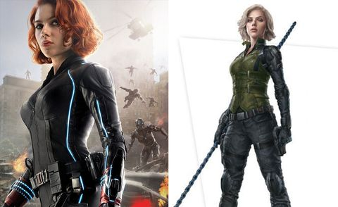 """<p>We're not really sure why Natasha is&nbsp;<a href=\http://www.digitalspy.com/movies/the-avengers/feature/a850930/black-widow-avengers-infinity-war-green-costume/\"""" data-tracking-id=\""""recirc-text-link\"""" target=\""""_blank\"""">wearing green</a>&nbsp;in this movie. Is it some kind of Stark tech stealth suit? Or perhaps a nod to her original comic-book appearance.&nbsp;And she's blonde now too"""