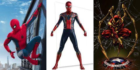 Spider-Man costume in Infinity War