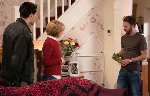 David Platt is appalled when Josh Tucker visits him in Coronation Street