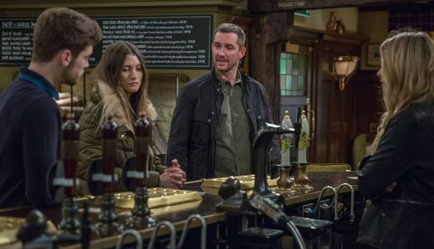 Joe Tate and Debbie Dingle's reunion causes a stir in Emmerdale