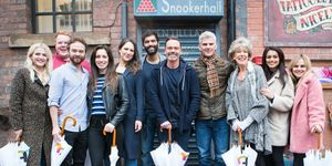 Coronation Street cast on the newly-extended set