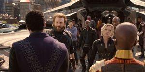 Black Panther, Captain America, Black Widow, Okoye, Avengers Infinity War trailer