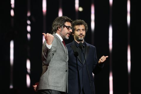 Bret McKenzie and Jemaine Clement attend the 30th Annual ARIA Awards 2016 at The Star on November 23, 2016 in Sydney, Australia