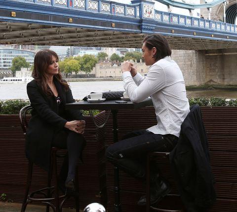 Dakota Davies and Leo Tanaka meet up in London in Neighbours