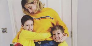 Stacey Soloman, her children Zachary and Leighton