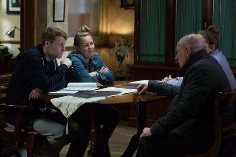 Ted Murray has a meeting over Joyce's funeral in EastEnders