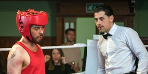 David Platt goes too far in the boxing ring with Gary Windass in Coronation Street