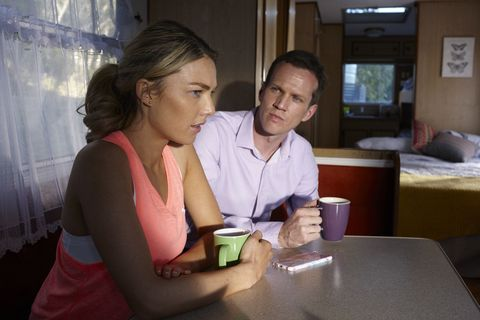 Jasmine Delaney is held captive by her stalker David in Home and Away