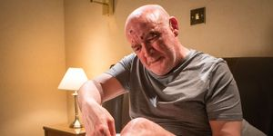 Pat Phelan in a B&B in Coronation Street