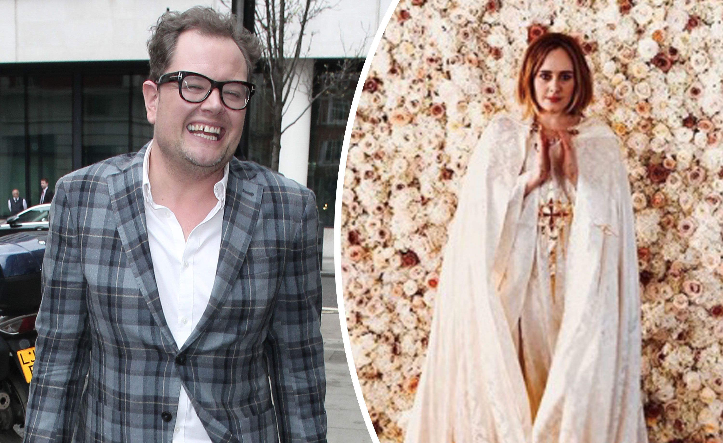 561dbfbbf38 Alan Carr reveals Adele got ordained to marry him and his husband Paul  Drayton