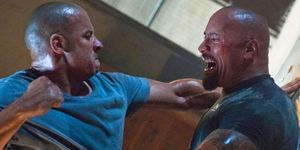 Vin Diesel, Dwayne Johnson, The Rock, Fast and Furious fight scene