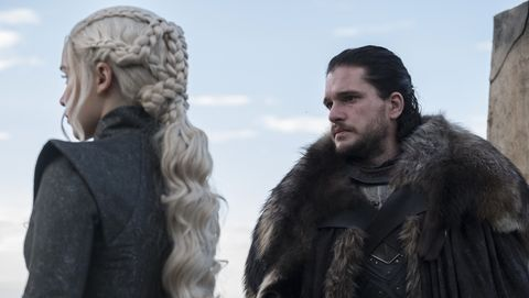 Daenerys and Jon Snow in Game of Thrones