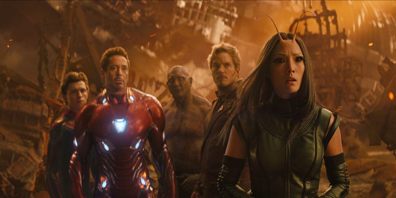 Robert Downey Jr., Iron Man, Chris Pratt, Star Lord, Avengers: Infinity War