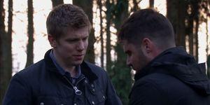 Emmerdale's Robert and Aaron after kidnap plot