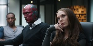 Vision and Scarlet Witch in Captain America Civil War