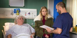 Lisa Dingle in hospital in Emmerdale