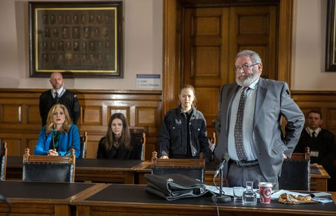 Gabby Thomas and Liv Flaherty appear in court in Emmerdale