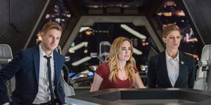 DC Legends of Tomorrow, Arthur Darvill as Rip Hunter, Caity Lots as Sara Lance/White Canary, Jes Macallan as Ava Sharpe, episode 13, series 3