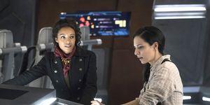 DC Legends of Tomorrow, Maisie Richardson-Sellers as Amaya Jiwe/Vixen and Tala Ashe as Zari Adrianna Tomaz, episode 18, series 3