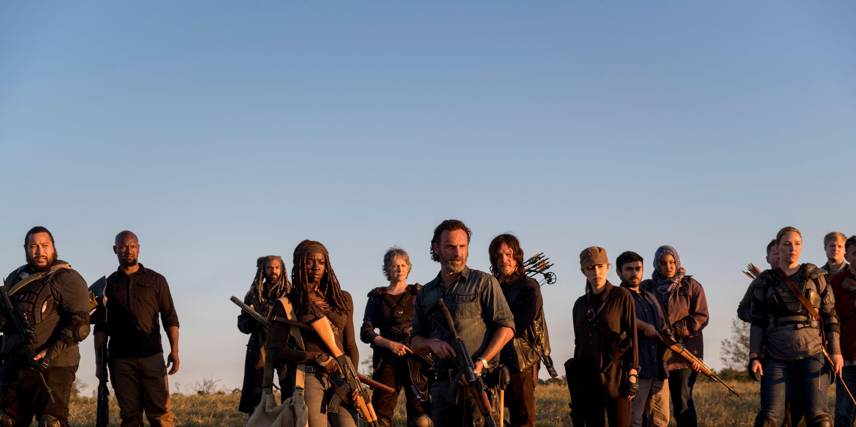 The Walking Dead, Season 8 finale, fight, battle, Ezekiel, Michonne, Carol, Rick, Daryl, Rosita,