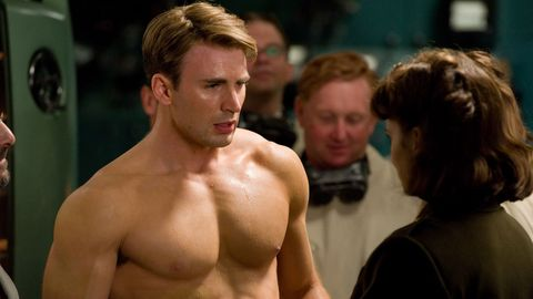 Chris Evans and Hayley Atwell in Captain America The First Avenger Peggy Carter