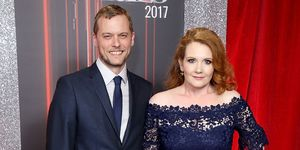 Chris Farr and Jennie McAlpine attend The British Soap Awards