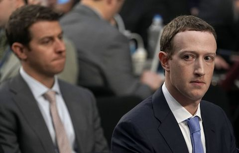 Facebook co-founder, Chairman and CEO Mark Zuckerberg testifies before a combined Senate Judiciary and Commerce committee