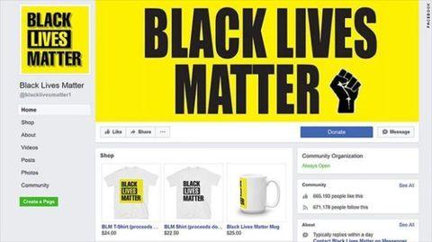 Black Lives Matter fake Facebook page