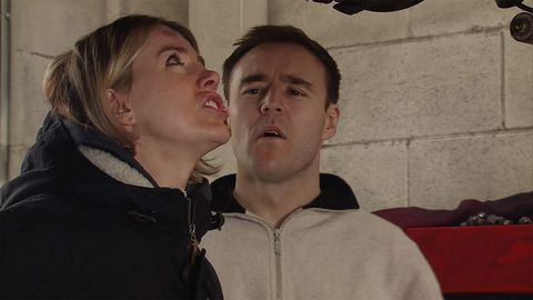 Abi shows up Tyrone Dobbs at the garage in Coronation Street