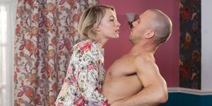 Adam Donovan tries to tempt Darcy Wilde in Hollyoaks