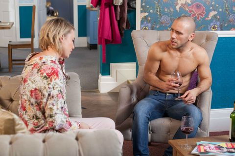 Adam Donovan tries to tempt Darcy Wilde in Hollyoaks