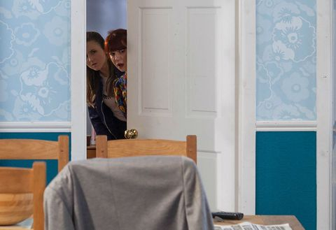 Esther Bloom and Nancy Osborne scheme in Hollyoaks