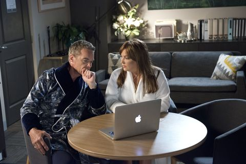 Gary Canning catches Paul Robinson and Terese Willis together in Neighbours