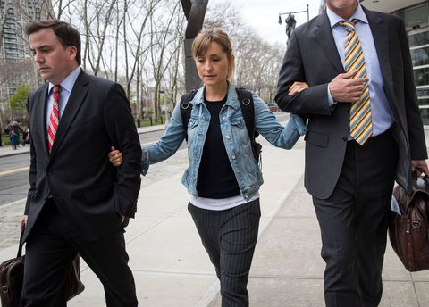 allison mack leaves us district court for the eastern district of new york after a bail hearing, april 24, 2018
