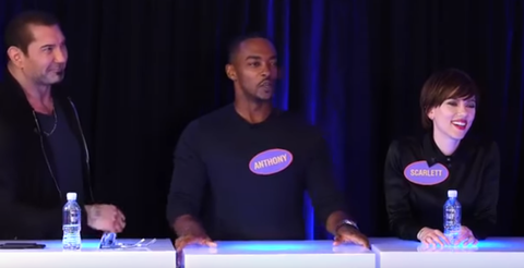 The Avengers cast played Family Fortunes and it was amazing