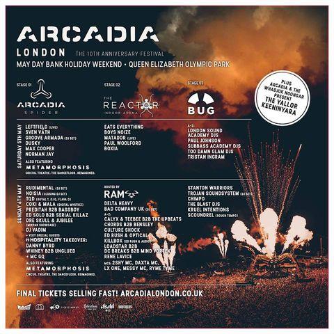 Arcadia Festival 2018 line up