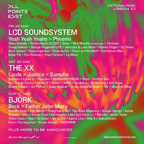 All Points East Festival 2018 line up