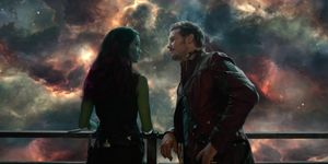 Gamora and Star-Lord in Guardians of the Galaxy