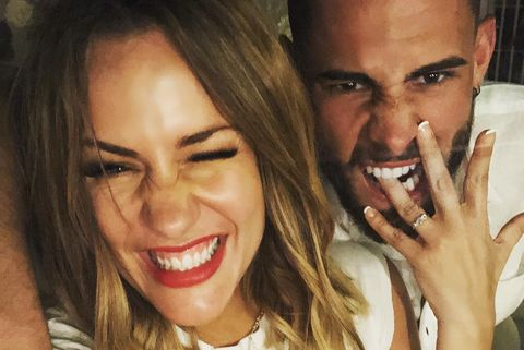 Caroline Flack is engaged to Andrew Brady