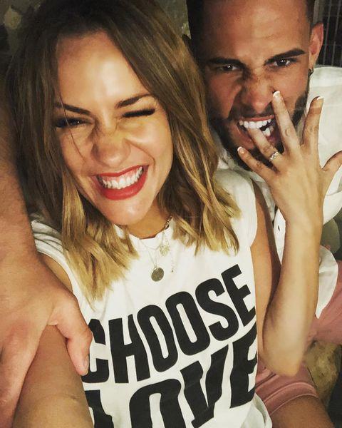 Caroline Flack is engaged to Andrew Brady