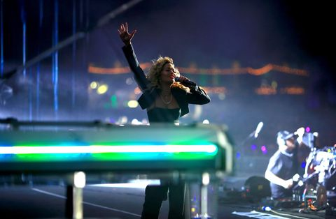 Rita Ora performing at Coachella in 2018