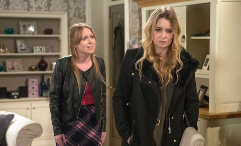 Charity Dingle tells Vanessa Woodfield about visiting DI Bails in Emmerdale